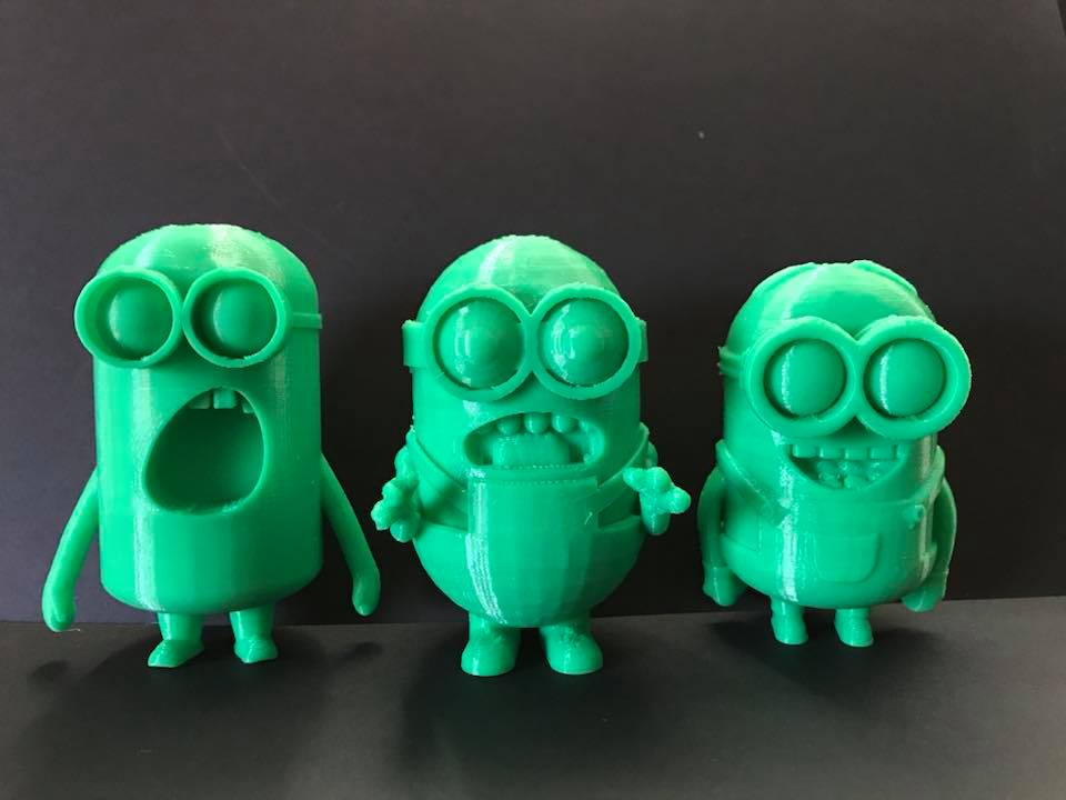 Diapo 4 : 3 figurines Mignons en 3D
