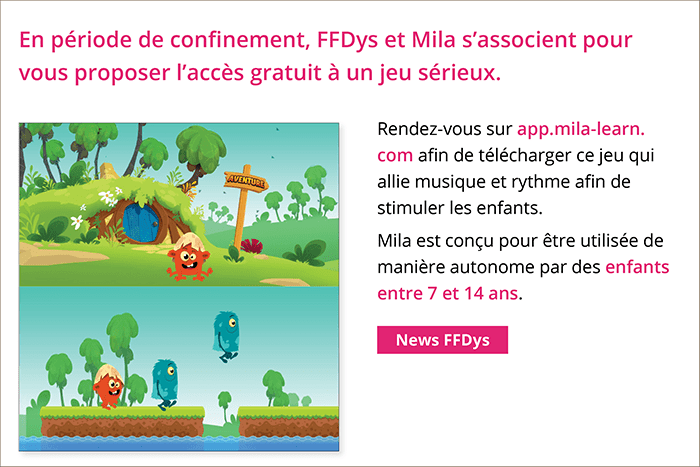 Diapo 3 : Article de la FFDYS sur Mila