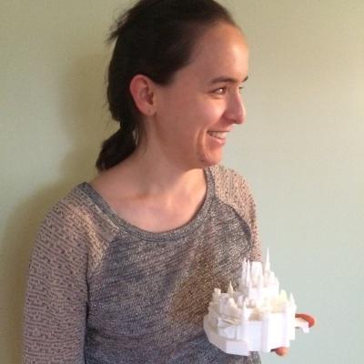 Diapo 1 : Une membre qui a bénéficie de l'impression d'un chateau en 3D