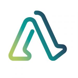 Logo de Able Human Motion : deux jambes qui forment un A