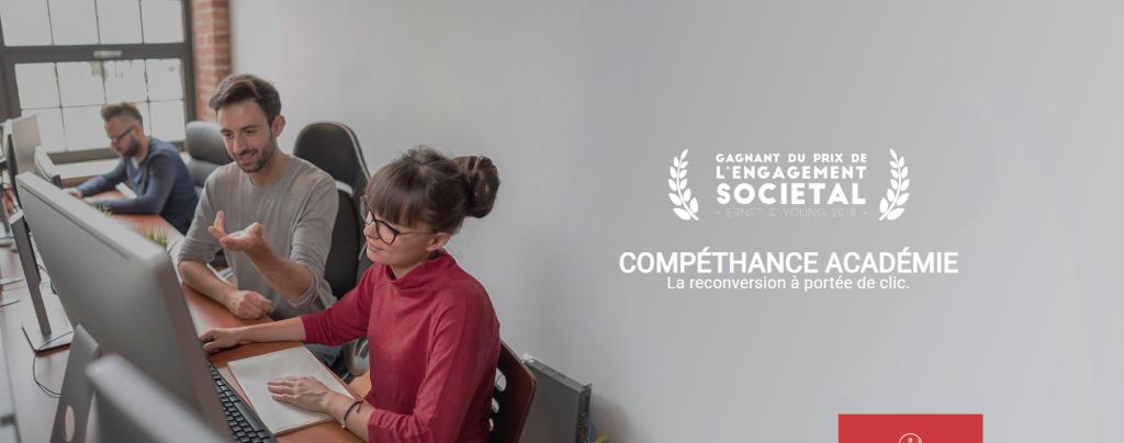 Diapo 4 : Gagnant du prix ernst & young en 2018 avec 4 personnes souriantes