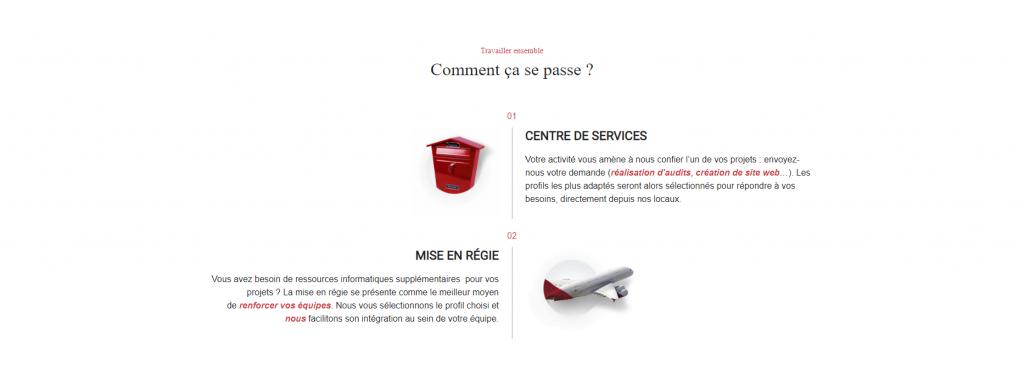 Diapo 2 : Capture d'écran du site internet sur comment se passe un recrutement entre mise à disposition d'une personne qualifié et de matériel