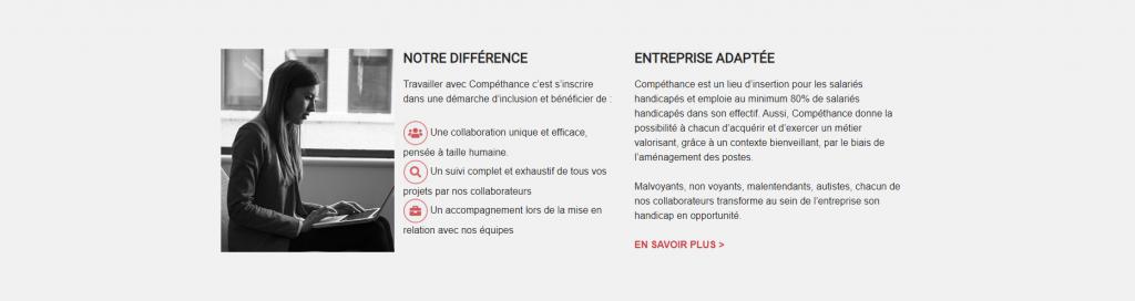 Diapo 3 : Les engagements et la définiion d'une entreprise adapté