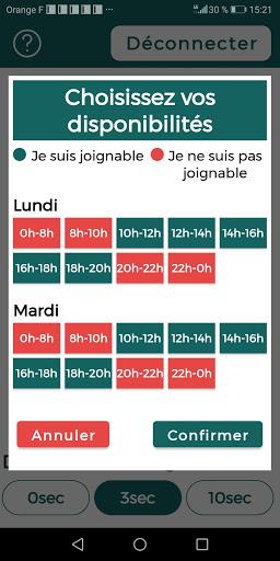 Diapo 5 : Image de JIB Calls montrant sa fonctionnalité de choix de créneau de disponibilité