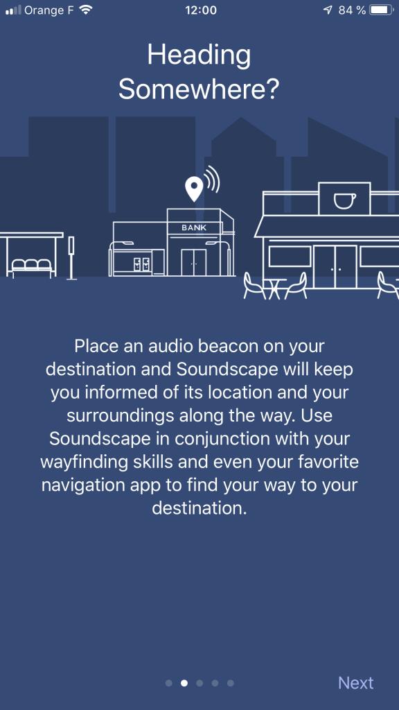 Diapo 3 : Explication de l'application et comment mettre un point audio sur votre destination qui permettra à l'application de vous diriger vers ce lieu en duo avec un gps classique