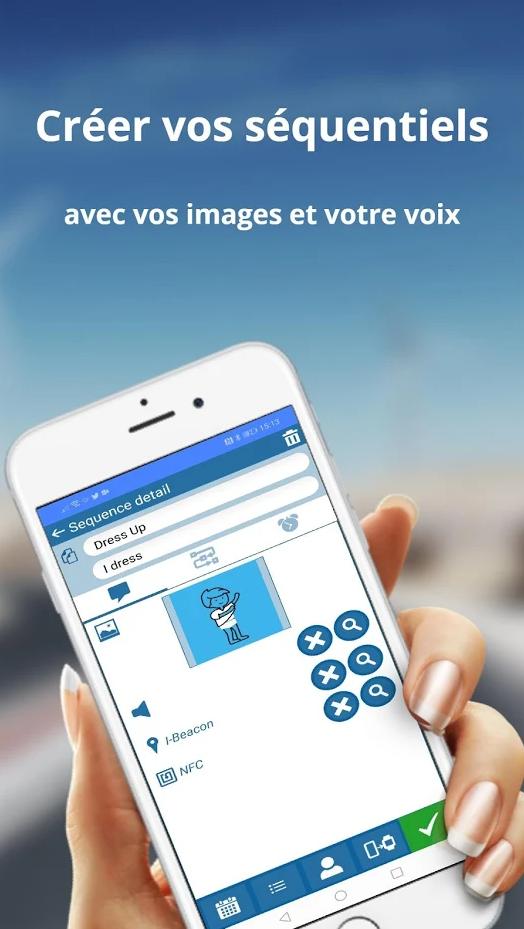Diapo 4 : Un smartphone tenu dans une main avec le menu d'enregistrement d'une séquence