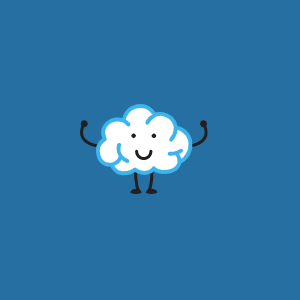 Logo de Pictotask avec un nuage et ses bras.