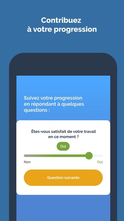 Diapo 4 : Image de l'application Verry'Appli demandant à la personne si elle est satisfaite de son travail ou non