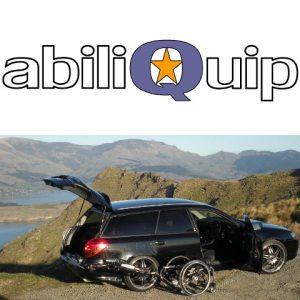 Logo Abiliquip et une voiture avec le dispositif