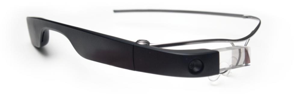 Diapo 3 : Les smartglass de Munevo Drive sur fond blanc