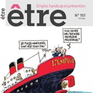 Une du magazine être coupé pur qu'elle forme un carré, un bateau nommé emploi semble être au bord du naufrage