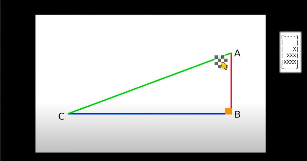 Diapo 2 : Un triangle sur un ordinateur avec le curseur de Tactos