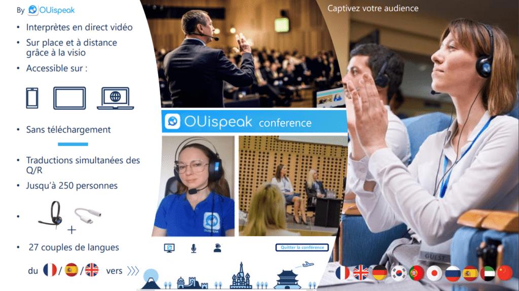 Diapo 6 : Image de Ouispeak Conférence