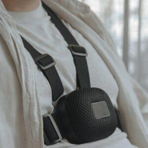 Photo du dispositif Strap sur le torse d'un homme