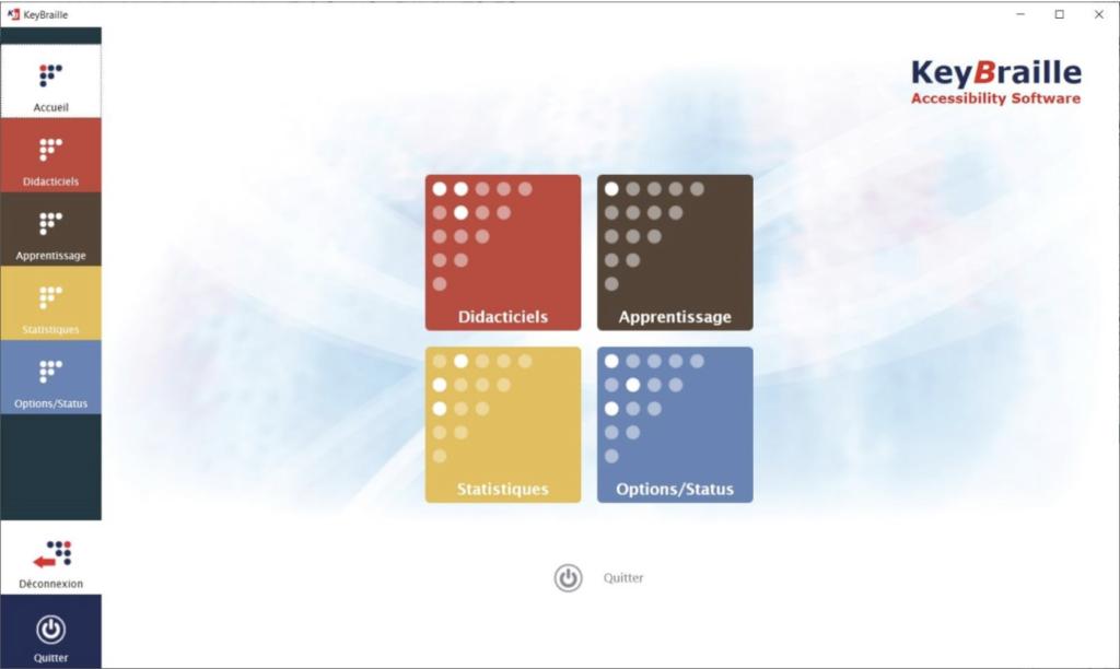Diapo 3 : Image de l'interface du logiciel KeyBraille