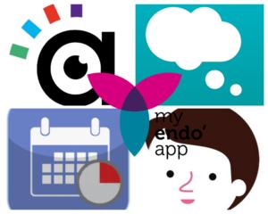 Collage photo des logos de Aidodys, Catch it, çaTED, Alix & Moi, MyEndoApp