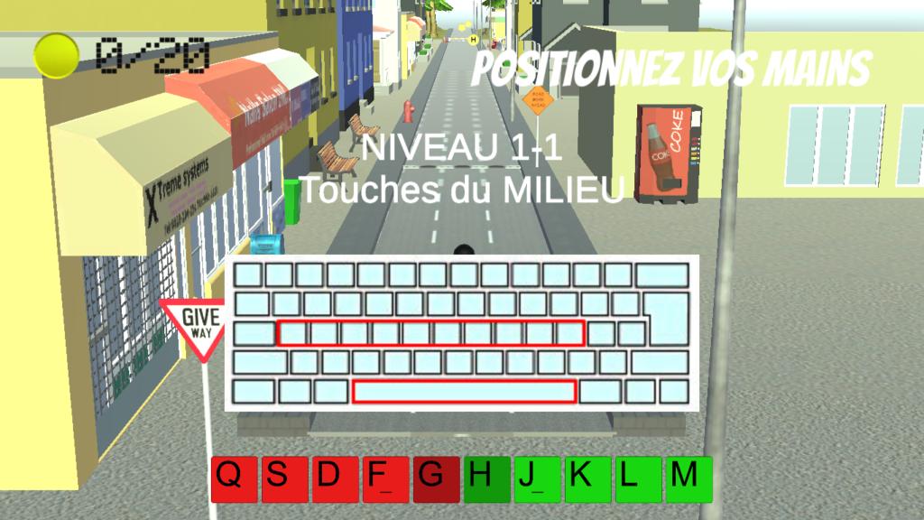 Diapo 5 : Image du fonctionnement du clavier avec Dactylo Run