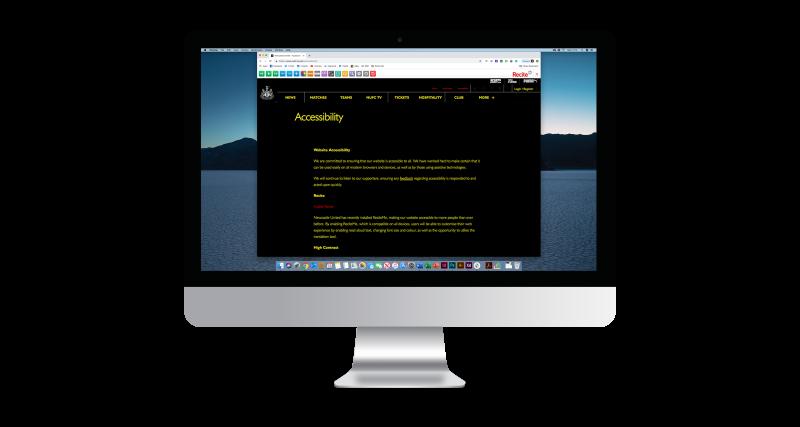 Diapo 6 : Image d'un écran d'ordinateur affichant un site web utilisant la fonction couleur de Recite Me
