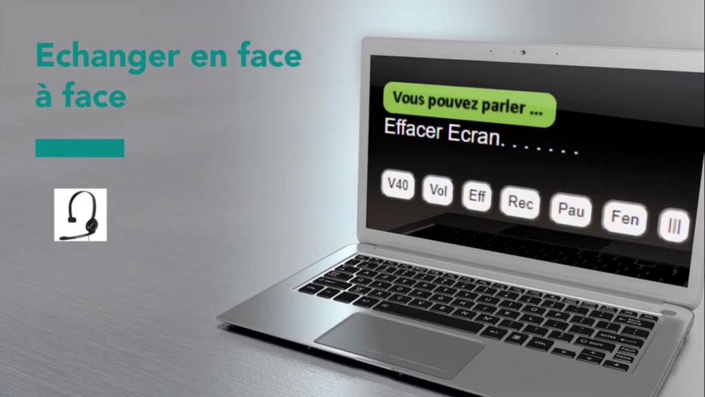 Diapo 2 : Image d'une des fonctionnalités de Scribovox sur un ordinateur