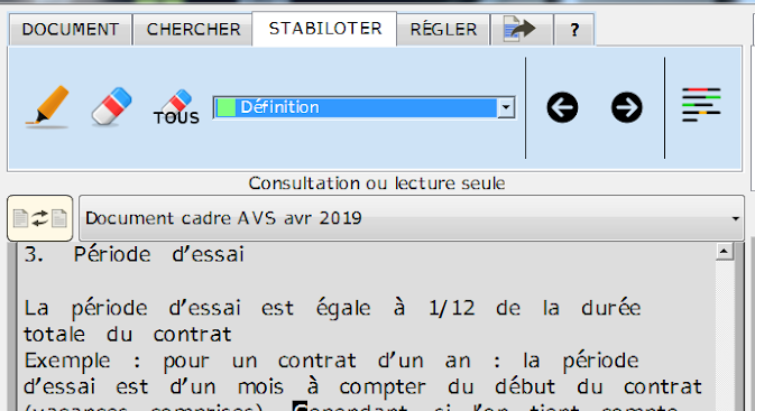 Diapo 5 : Image de la fonction 'stabiloter' du logiciel ADELE-TEAM