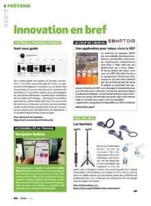 """La page """"innovation en bref"""" du magazine être"""